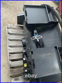 Hydraulic Skid Steer Concrete Mixer Self Loading 48 Mixing Drum Wolverine New