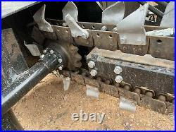 Mower King Skidsteer 4' Trencher Hydraulic Attachment CAT Bobcat FREE SHIPPING