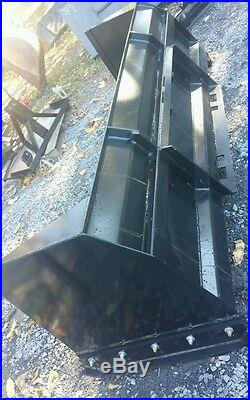 NEW 10' SKID STEER/TRACTOR LOADER SNOW BOX PUSHER PLOW BLADE cat case holland