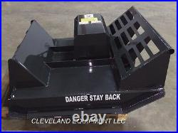 NEW 44 MINI BRUSH CUTTER MOWER ATTACHMENT for BOXER SKID STEER TRACK LOADER