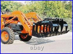NEW 60 LD ROOT GRAPPLE ATTACHMENT Skid-Steer Loader Bucket Rake Caterpillar Cat
