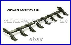 NEW 60 LOW PROFILE TOOTH BUCKET Skidsteer Loader Attachment Industrial Teeth nr