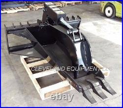 NEW 62 XL STUMP GRAPPLE BUCKET ATTACHMENT Skid Steer Track Loader Kubota Bobcat