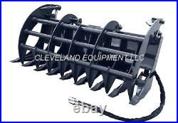 NEW 72 CID EXTREME-DUTY GRAPPLE RAKE ATTACHMENT with TEETH Skid Steer Loader 6