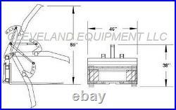 NEW ADJUSTABLE FORK GRAPPLE ATTACHMENT Skid Steer Loader Mustang Holland Komatsu