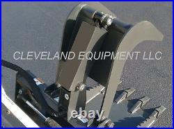 NEW HD STUMP GRAPPLE BUCKET SKID STEER LOADER TRACTOR ATTACHMENT root rake brush