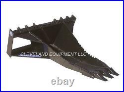 NEW SEVERE-DUTY SKID-STEER LOADER STUMP BUCKET Blue Diamond Attachments