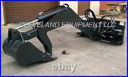NEW SWING ARM BACKHOE ATTACHMENT Excavator Skid Steer Loader Tractor Bobcat Cat