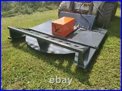 New 72 Open Front Brush Cutter Attachment Skidsteer Quick Attch Shipping