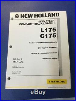 New Holland L175, C175 Skid Steer Track Loader Service Repair Manual Set