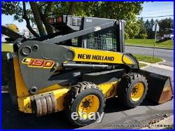 New Holland L190 Skid Steer Loader CAB HEAT ONE OWNER ONLY 328.2 HOURS 80HP