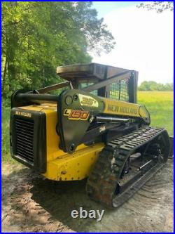 New Holland L190 TRACK LOADER HIGH FLOW LOW HOURS HEAT A/C TRACKS ENCLOSED SKID