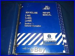 New Holland L465 Lx465 Lx485 Skid Steer Loader Service Shop Repair Manual Book