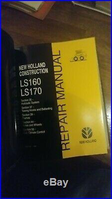 New Holland LS160 LS170 Skid Steer Printed Repair Service Workshop Manual OEM