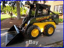 New Holland LS170 Skid Steer Loader EXCELLENT CONDITION NEW TIRES NEW BUCKET