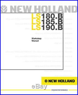 New Holland LS180. B LS185. B LS190. B Skid Steer Printed Service Workshop Manual