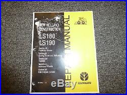 New Holland LS180 & LS190 Skid Steer Loader Shop Service Repair Manual 37-50