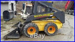 New Holland Ls170 Skid Steer Loader Rubber Tire Loader Diesel Engine Hydraulics