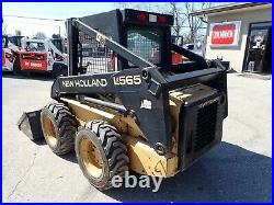 New Holland Lx565 Skid Steer Loader, Orops, Aux Hydraulics, 40 HP Pre Emissions