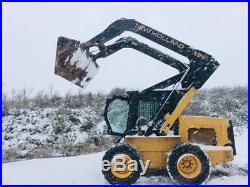 New Holland Lx985 Skid Steer Loader Diesel Enclosed Cab Heat/air 2 Speed Aux Hy