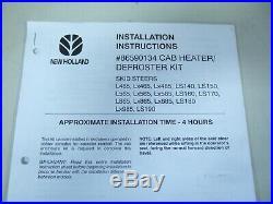 New Holland Skid Steer cab heater defroster kit 86590134, OEM L, LX, LS series