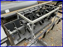 New Skid Steer Loader 72 Roto Tiller Hydraulic Rotary Garden Quick Attach 6