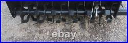 New USA Skid Steer Loader 72 Roto Tiller Hydraulic Rotary Garden Quick Attach 6