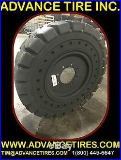 SOLID SKID STEER TIRES 825-16 AND WHEELS LA 12-16.5 SKID STEER TIRES 12x16.5