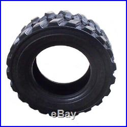 Set of (4) 12-16.5 14 Ply Skid Steer Tires & Rims for New Holland-John Deere