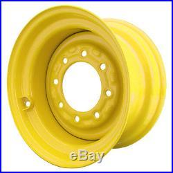 Set of 4 8 Lug New Holland LS150 Skid Steer Wheels, 8.25x16.5, 10x16.5 Tires