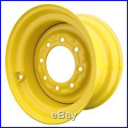 Set of 4 8 Lug New Holland LX665 Skid Steer Wheels, 8.25x16.5, 10x16.5 Tires
