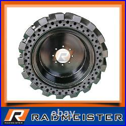 Skid Steer 12x16.5 Solid Tires Set of 4 withWheels for New Holland 12-16.5