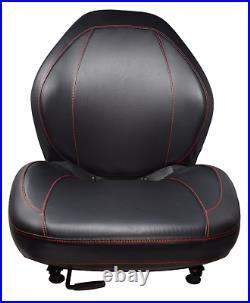 Skid Steer Black Seat with Slides Bobcat Case Ford Gehl John Deere New Holland