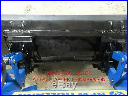 Skid Steer Quick Attach Adapter Assembly Case New Holland Mounting Plate