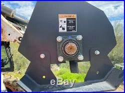 SkidSteer 72 Roto Tiller Hydraulic Rotary Garden Soil Conditioner Quick Attach