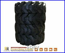 Skids Steer Loader Solid Tires x 4, No Flat 10x16.5 Bobcat CAT CASE 31x10-20