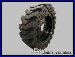 Solid Skid Steer Tires Set of 4 with Rims 12x16.5 / 33x12x20 Free Shipping
