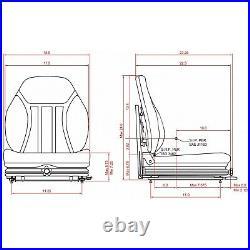 Suspension Seat Skid Steer Loader fits Bobcat, John Deere, New Holland, Case