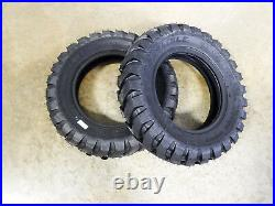 TWO New 5.70-12 Carlisle Trac Chief USA Made Tires 4 ply TL Compact Skid Steer