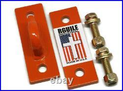 Tractor skidsteer loader grab bucket hooks Orange Kubota bolt on made USA