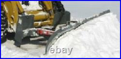 USED 9,108 WORKSAVER HYDRAULIC SNOW PLOW BLADE SKID STEER LOADER, TRACTOR bobcat
